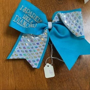 "Accessories - ""I Sparkle Like A Diamond"" Cheer/Dance Bow"